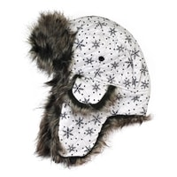 Zimní blyštivá čepice světlá