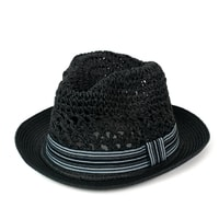 Černý měkký trilby klobouk