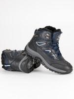 Pánské zimní boty šedomodré