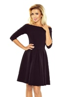 Šaty s holými rameny v černé barvě