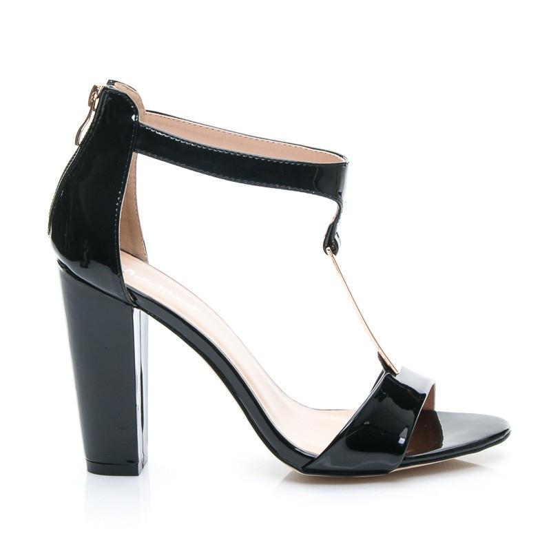 Черные лаковые босоножки на толстом каблуке. ЧаВо. Контакты