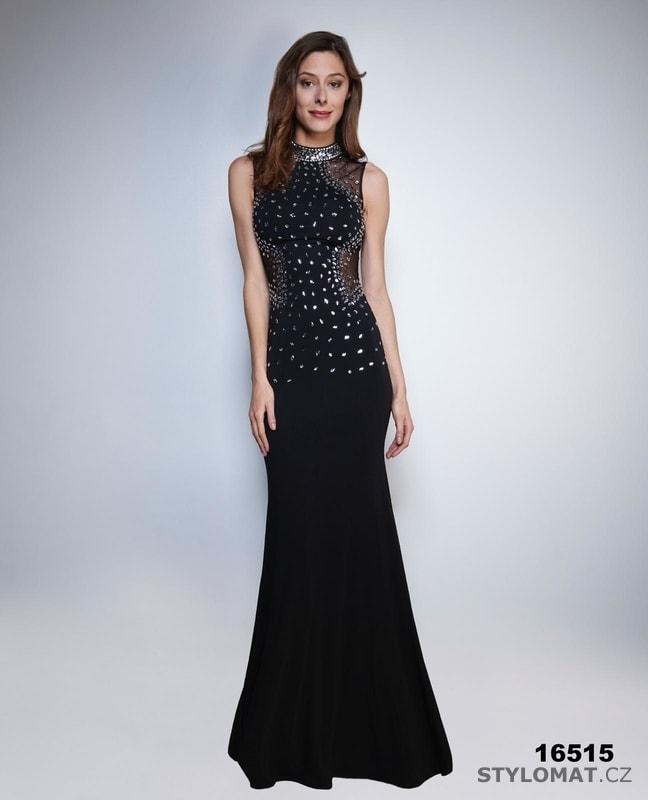 dba3284858cf Černé večerní šaty s kamínky - Soky Soka - Šaty