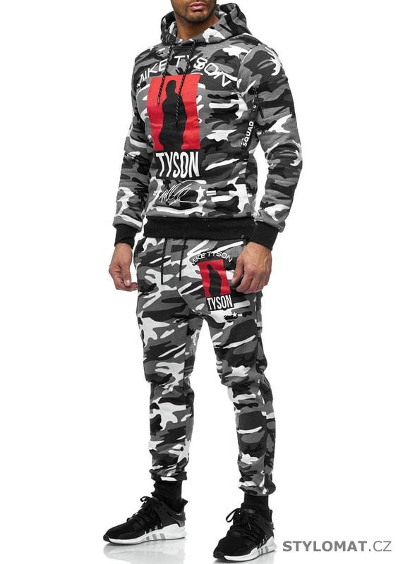 d6f38630257 Pánská tepláková souprava Mike bílá moro - Redox - Sportovní oblečení