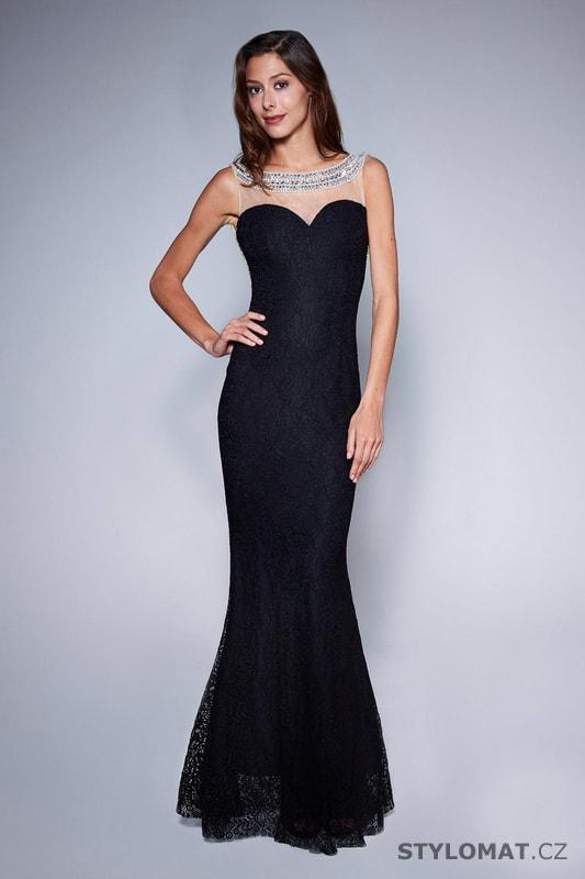 Večerní šaty s holými zády černé - Soky Soka - Dlouhé společenské šaty 4b821f20d2