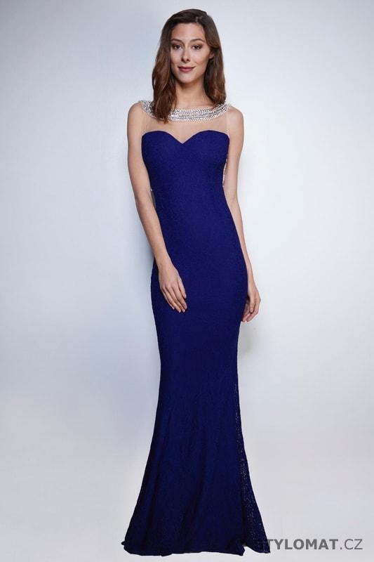 Večerní šaty s holými zády královsky modré - Soky Soka - Dlouhé ... 2fa4ac58a19