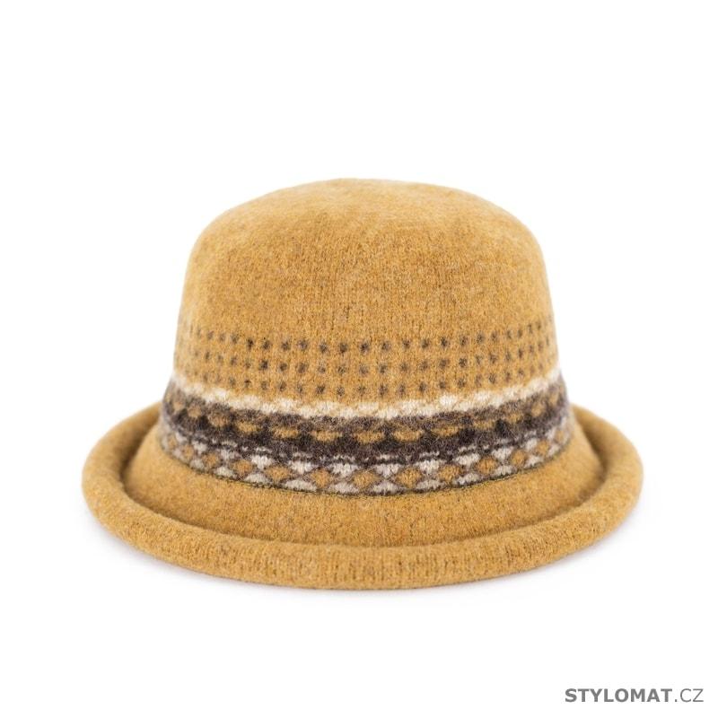 Klobouk se vzorem žlutý - Art of Polo - Dámské vlněné klobouky b3dbe83019