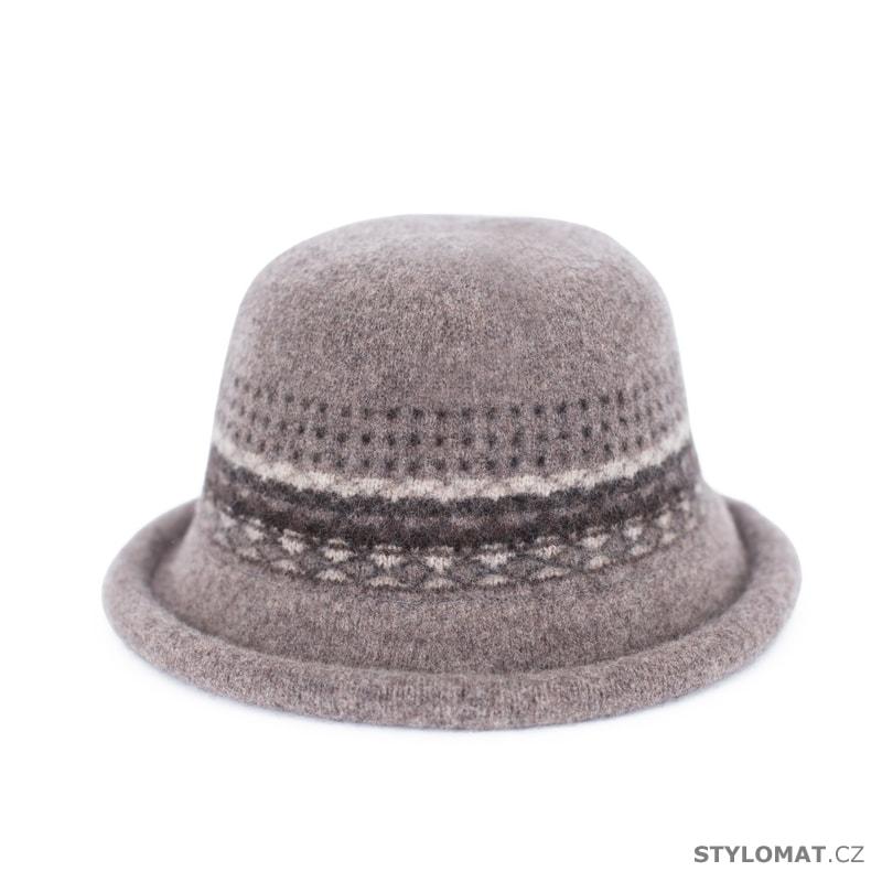 Klobouk se vzorem béžový - Art of Polo - Dámské vlněné klobouky af89bc21ca