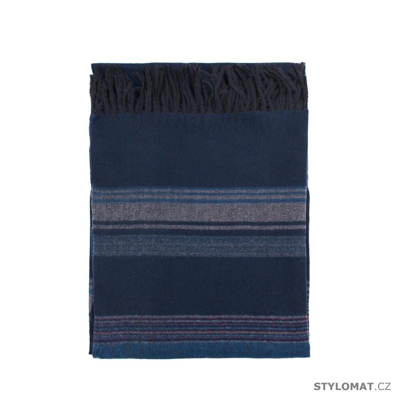 Tmavý šál v modré barvě - Art of Polo - Dámské zimní šály 3f8a427136