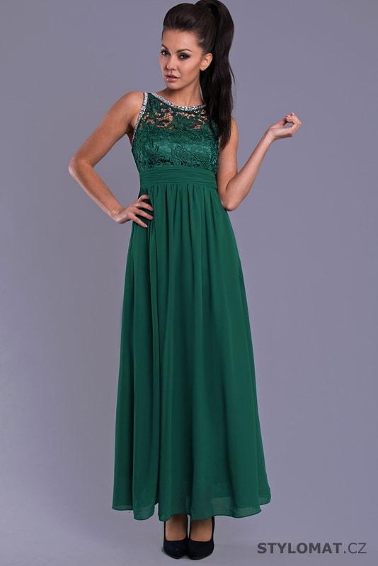 Elegantní dlouhé plesové šaty zelené - Eva Lola - Dlouhé společenské ... 2e2ea3862d