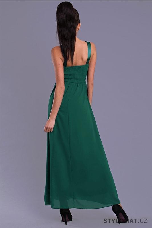 1d765fd3bb5 Elegantní dlouhé plesové šaty zelené - Eva Lola - Dlouhé společenské ...