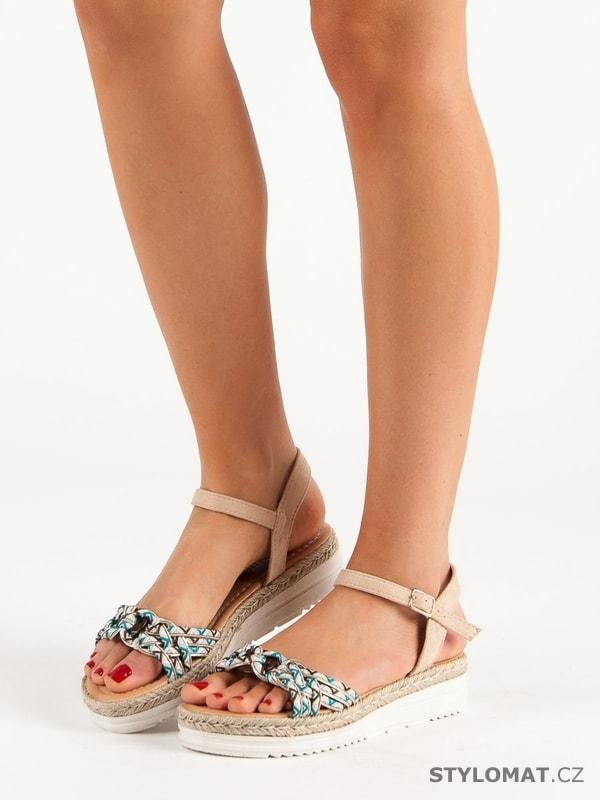 51c15e1b902f Módní sandály espadrilky béžové - CH. Creation - Sandále