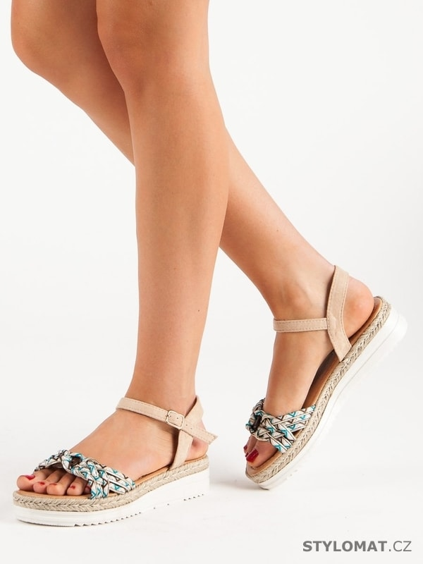 733eecc02350 Módní sandály espadrilky béžové. Zvětšit. - 21%. Previous  Next