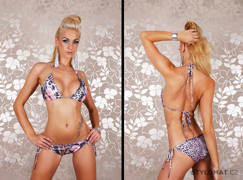 Luxusní plavky s leo look potiskem REDIAL - Redial - Dvoudílné plavky 4f74ce81b9