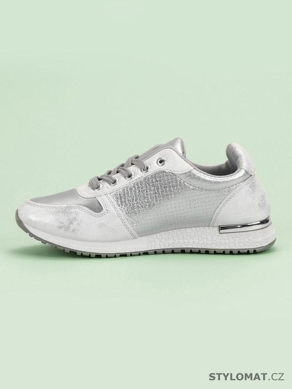 cfd2768e5781 Stříbrné sportovní boty - JUMEX - Tenisky