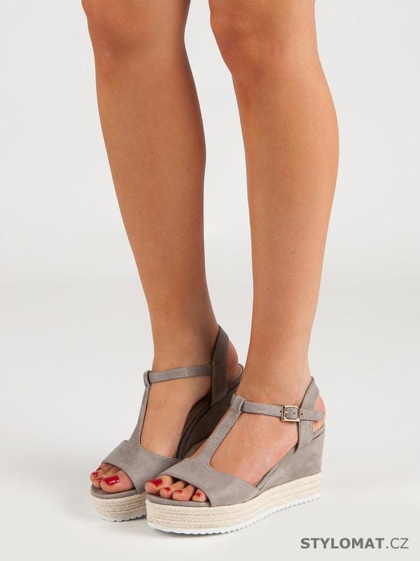 100903ea9a67 Šedé sandály espadrilky - SEASTAR - Sandále