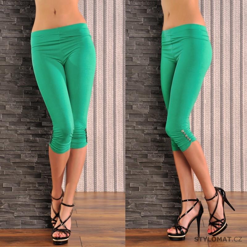 Trendy zelené legíny - bavlna - Fashion - Legíny 1634f3d6c7