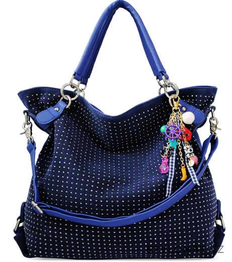 Dámská modrá maxi kabelka s kamínky - LS fashion - Dámské kabelky a tašky 158023cb70