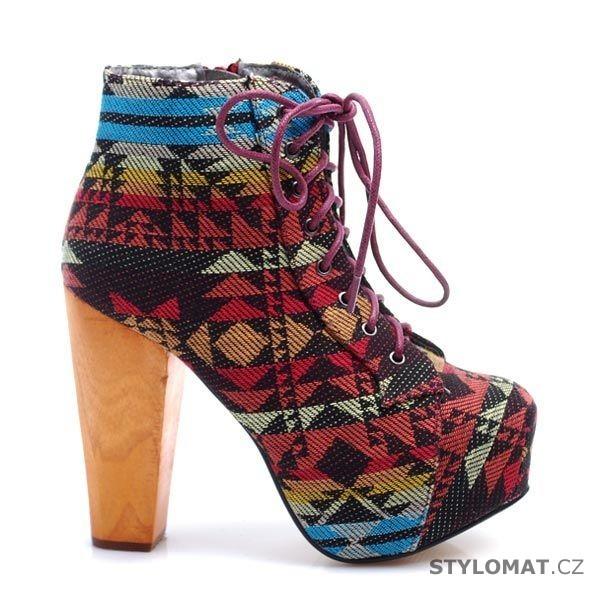 Trendy kotníkové boty na širokém podpatku - TRUFFLE - Kotníčkové boty 22e99cee39