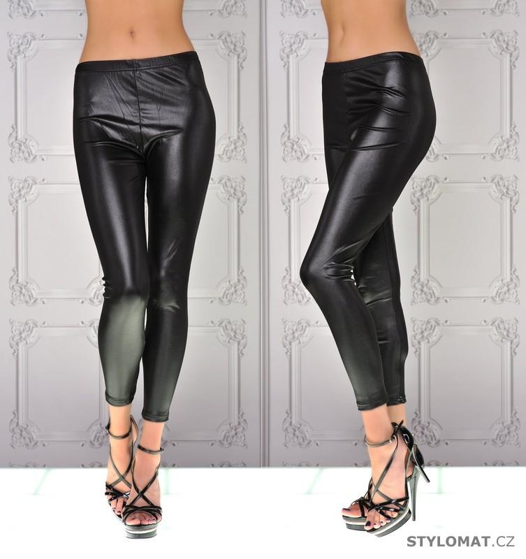 Sexy černé koženkové legíny - Fashion - Legíny 38a781822c