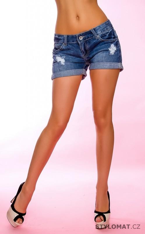 Riflové dámské šortky - Crazy Age - Kalhoty 53483c237e