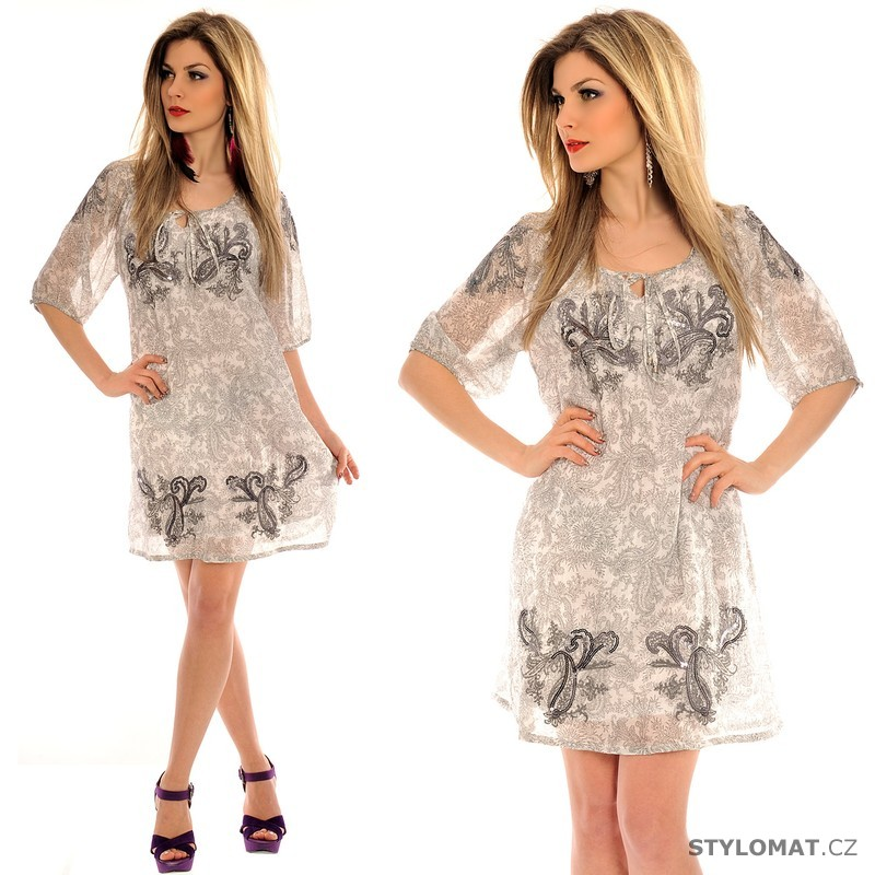 Dámské volné bílé letní šaty - Fashion - Krátké letní šaty bb32e2e90f