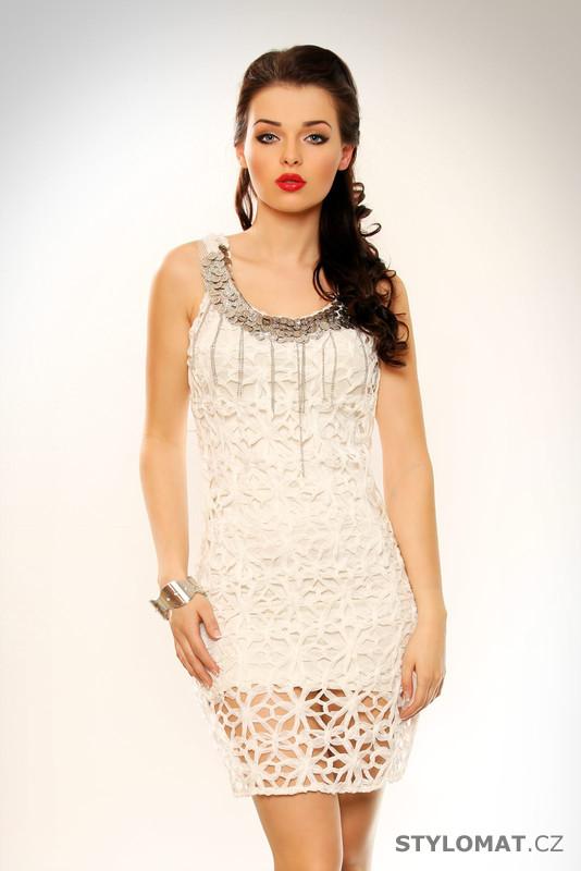 Dámské bílé elegantní koktejlové šaty - Redial Lexxury - Party a koktejlové  šaty 6b381dd784