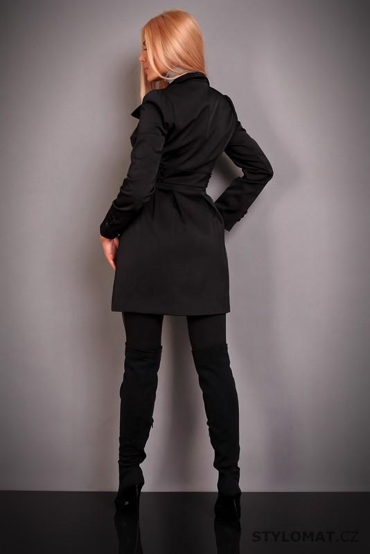 e77e10c87a9 Elegantní dámský černý trenčkot se stojáčkem - Redial - Kabáty a ...