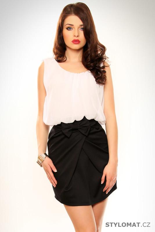 Dámské černo-bílé elegantní šaty - MIT - Party a koktejlové šaty 96cd85cee29