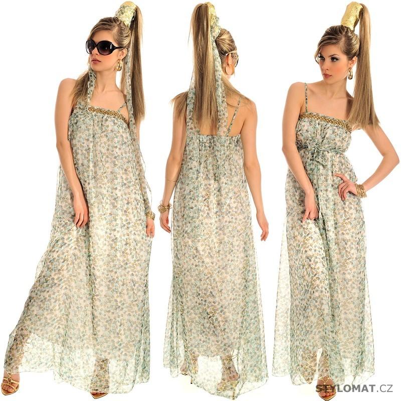 Dámské dlouhé vzorované letní bílé šaty - Fashion - Krátké letní šaty fab3db3fa8