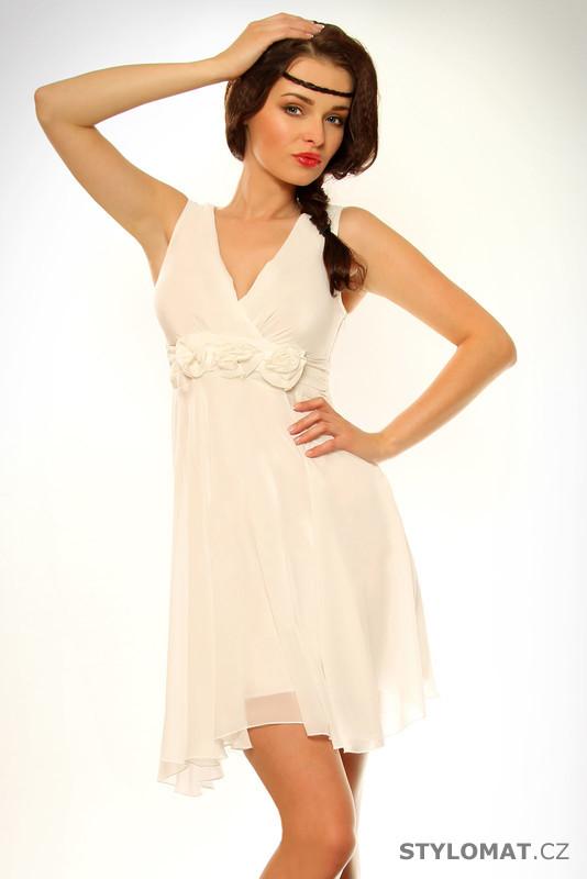 Dámské bílé éterické šaty - Pink BOOm - Krátké letní šaty 07056df4a8