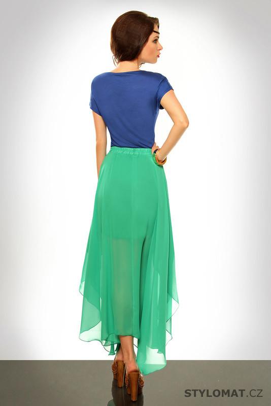 f87b08e2935 Světle zelená dlouhá sukně - SHK Mode - Sukně