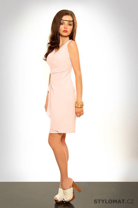 Dámské elegantní světle růžové šaty - Pink BOOm - Krátké letní šaty 04da3eb7b97