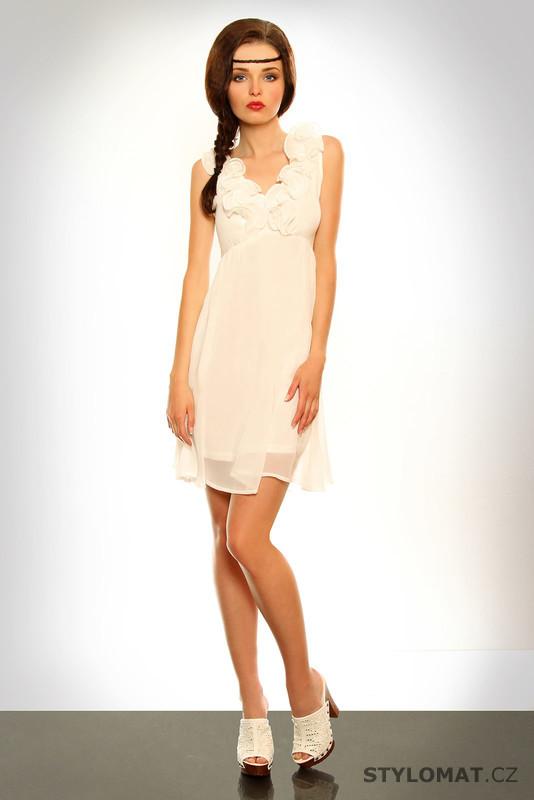 Dámské romantické bílé letní šaty - Pink BOOm - Krátké letní šaty f98f90ca09