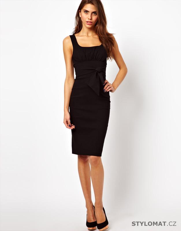 ce31b471fd4 Dámské business šaty černé - Fashion H. - Krátké společenské šaty