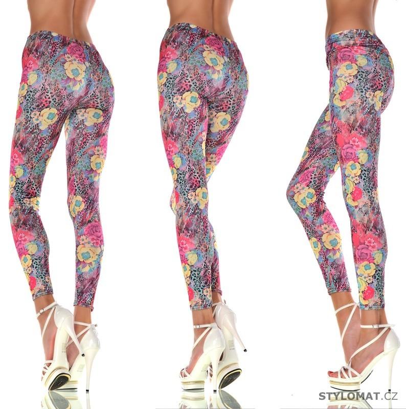 Trendy růžové bavlněné legíny se vzory - Fashion - Legíny 5c6fbb505c