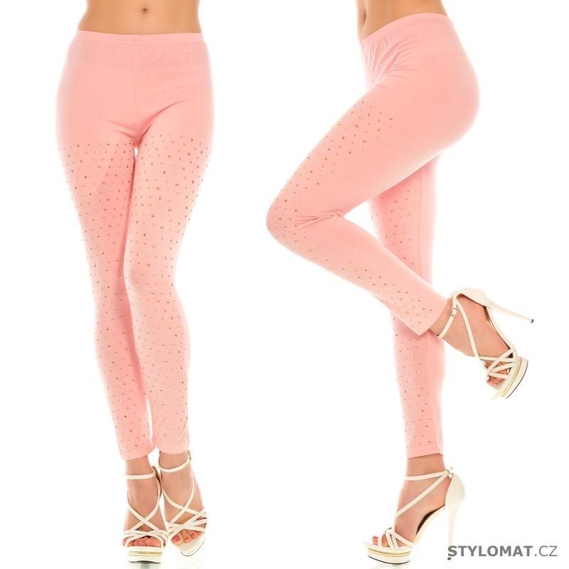 Růžové legíny s kamínky - Fashion - Legíny 1d1114cad3