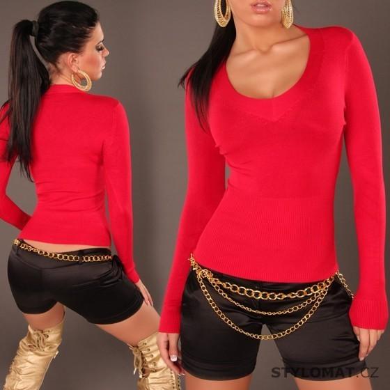 2b2c06056c5 Moderní dámský kašmírový červený svetr - Redial - Svetry