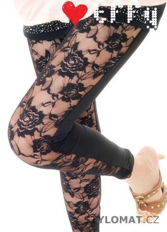 Trendy černé krajkové legíny - Fashion H. - Legíny a0f21689ba