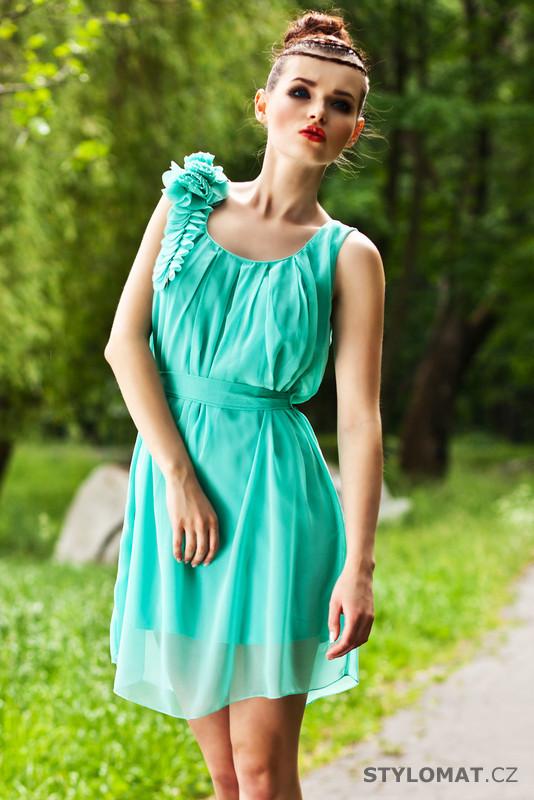 Dámské mátově zelené éterické šaty - Pink BOOm - Krátké letní šaty 04247828ab