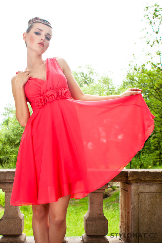 Dámské červené letní šaty - Pink BOOm - Krátké letní šaty 32f7fa4e24