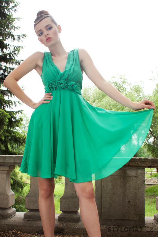Dámské zelené letní šaty - Pink BOOm - Krátké letní šaty bc94a4475a