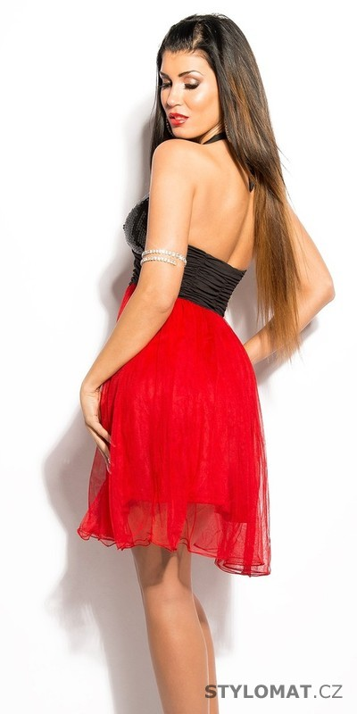 a7679658923 Dámské červené koktejlové šaty - Koucla - Krátké společenské šaty