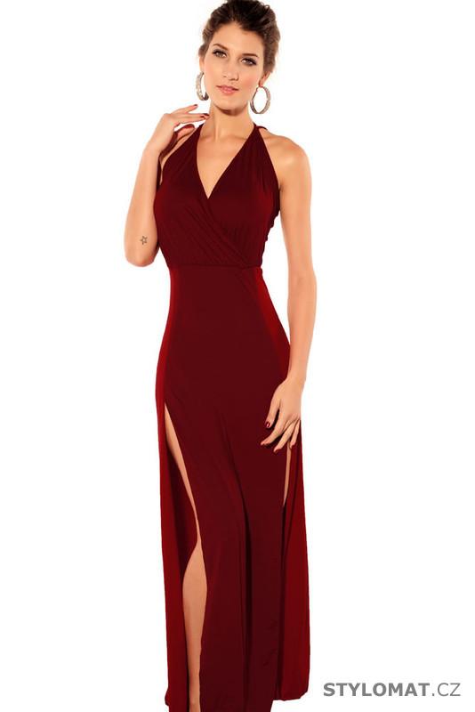 c2dad1dc05e Dámské dlouhé červené společenské šaty - Damson - Dlouhé společenské šaty