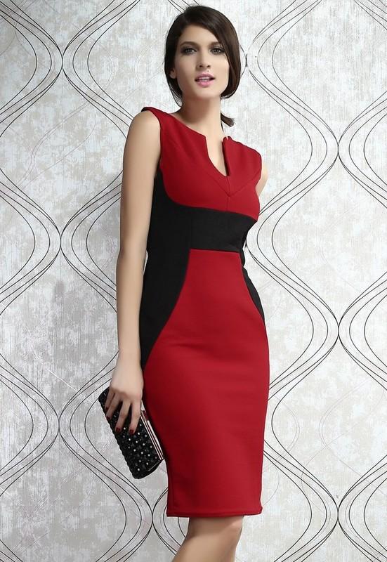 Elegantní dámské černo-červené šaty - Damson - Party a koktejlové šaty e2849c9f1a