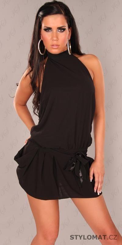 8a780d642c4 Dámské šifonové černé minišaty - Koucla - Krátké společenské šaty