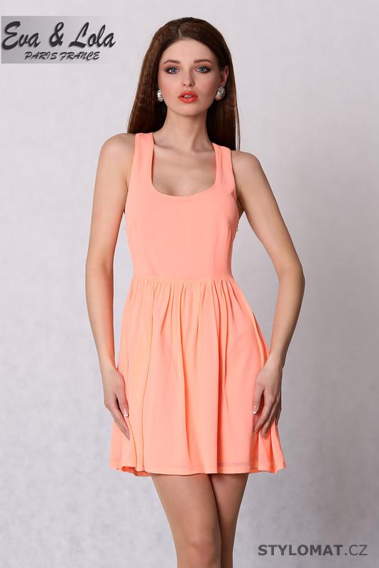 a246c5f2e2a Meruňkové elegantní šaty - Eva Lola - Party a koktejlové šaty