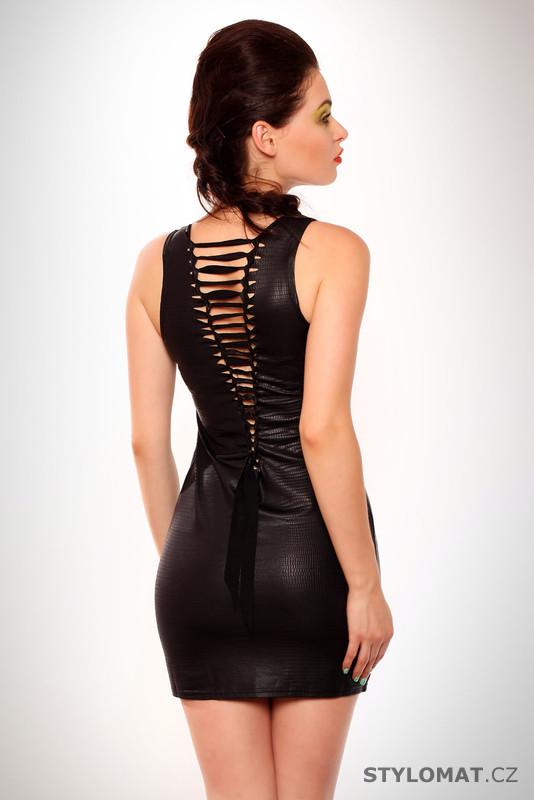 f0f158d359c Dámské černé šaty se šněrováním - Giorgia - Krátké letní šaty