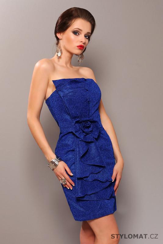 63aa1402f71 Třpytivé tmavě modré koktejlové šaty - Pink BOOm - Party a koktejlové šaty