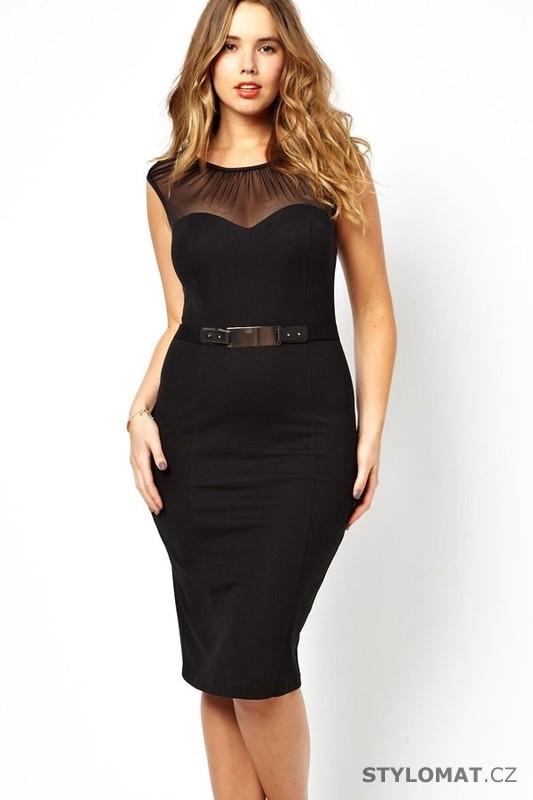 Elegantní černé pouzdrové šaty - Damson - Krátké společenské šaty a99546f6bc