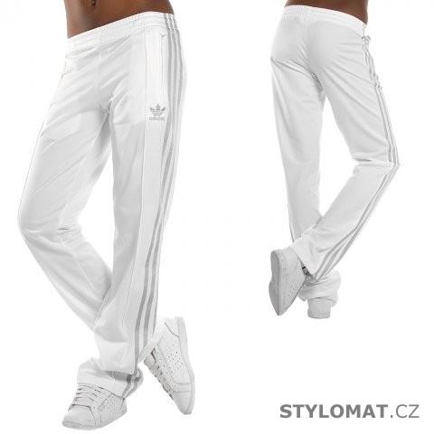 c4caf44dd22 Dámské bílo stříbrné kalhoty adidas Originals FIREBIRD TP - Redial - Sportovní  kalhoty a tepláky